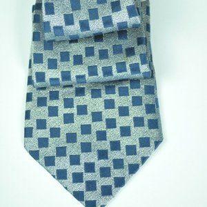 $225 Charvet Navy & Silver 100% Silk Tie